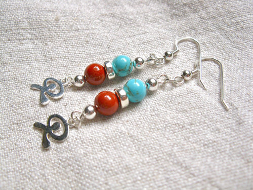 Indalo earrings ~ a jewellery gift for luck + protection MB01183