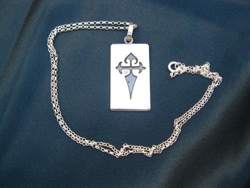 Dog tag ~ Santiago cruz, sterling silver 00998