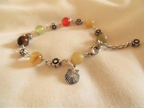 Camino travel bracelet ~ jade + silver