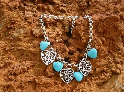 Lovehearts charm necklace