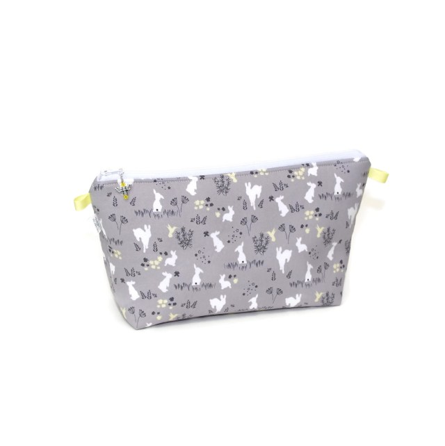 Grey Bunnies - Large Wedge Bag GreyBunnies-00200
