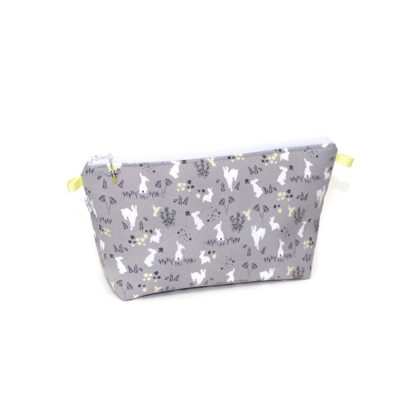 Grey Bunnies - Large Wedge Bag GreyBunnies-00200