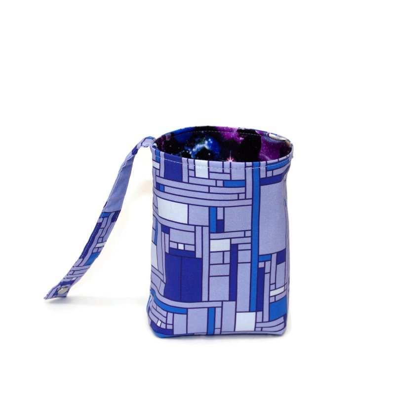Whovian - Mondrian Blue Box - Bucket Bag