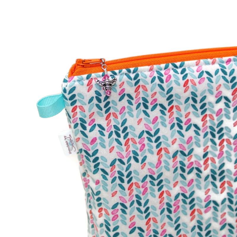Knit Stitch in Aqua - Tall Wedge