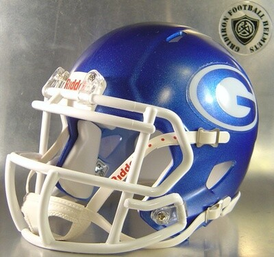 Grand Prairie Gophers HS 2013-2016 (TX) Metallic Royal Shell (mini-helmet)