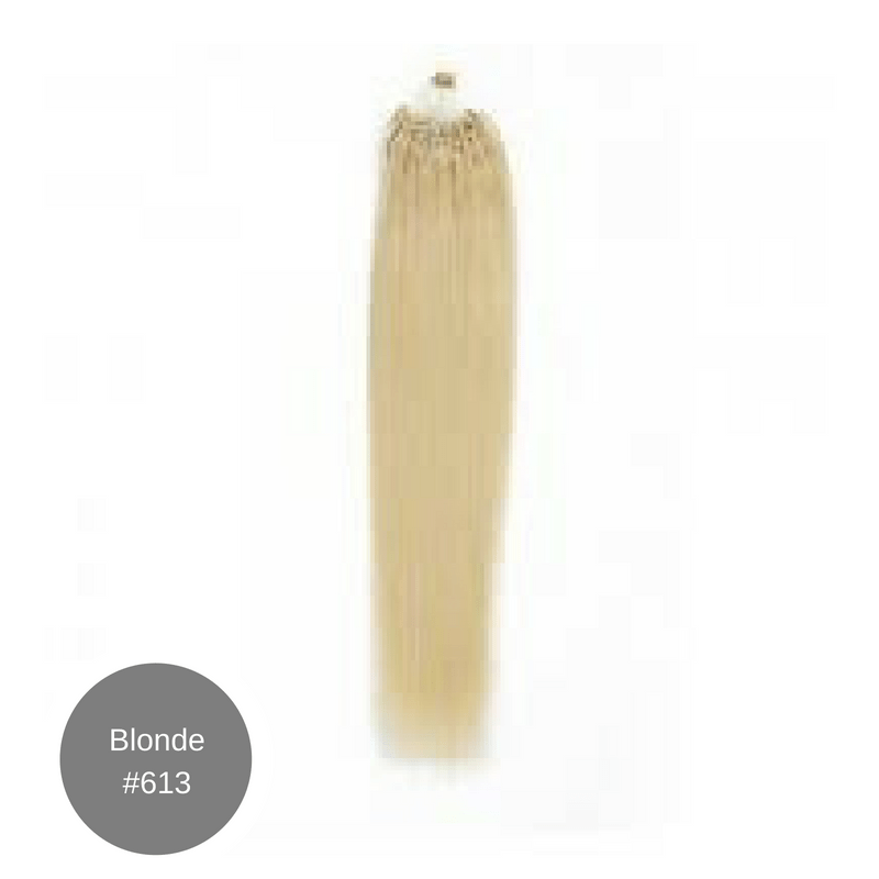 Micro Hair Extensions 22' #613 Blonde $22.99 (10 Strand Bundle)