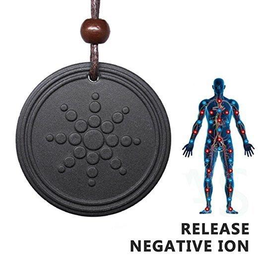 Anti Radiation Shield EMF Neutralizer Negative Ions Energy Pendant Necklace Orgone Pendant