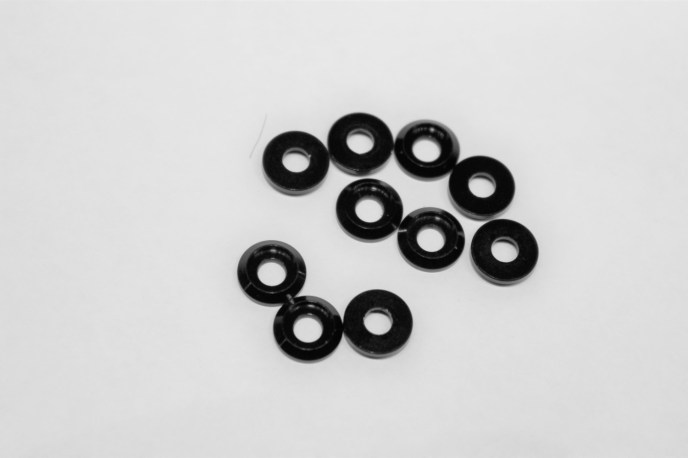 Black Aluminum M3 Countersunk Washer (10pcs)