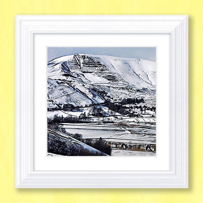 Mam Tor Snow Art Print