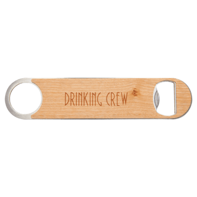 Bottle Opener with Wood Veneer