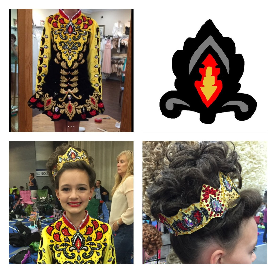 Custom designed tiara to match your solo costume. $20 deposit required for the design!