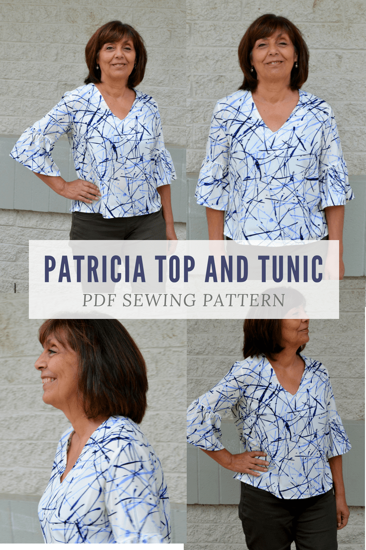 The Patricia Top and Tunic PDF sewing pattern 00109