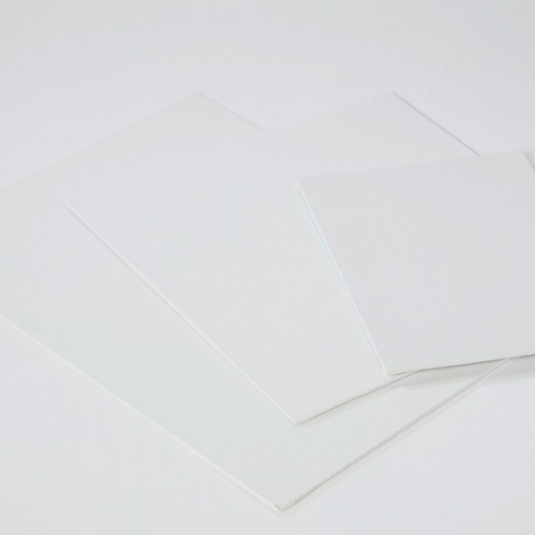 Carton entoilé 18x24cm coton blanc  - 280 g/m2