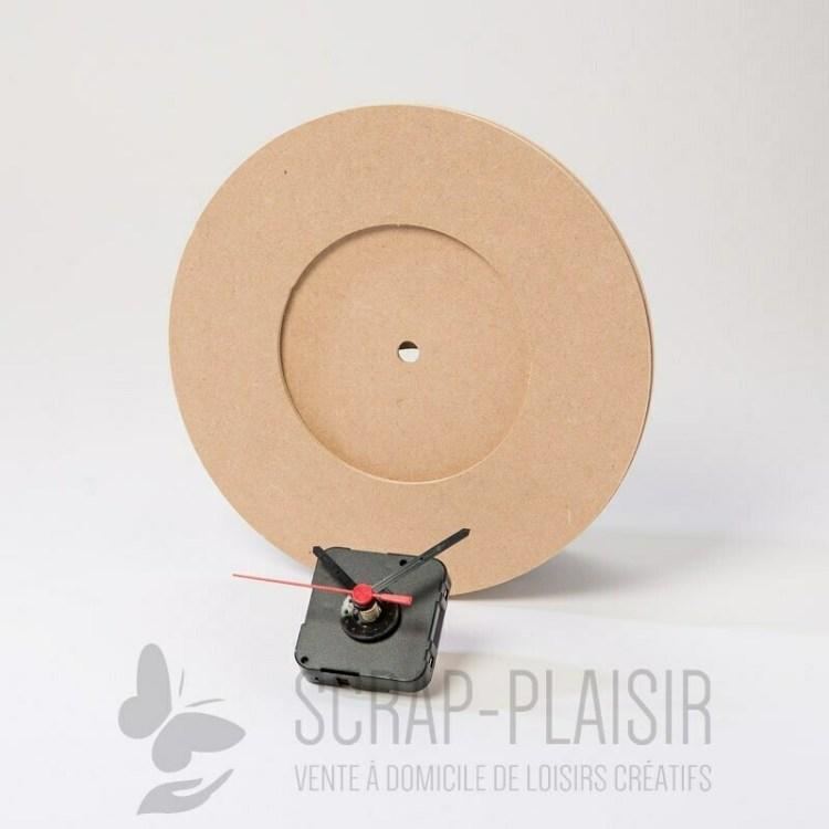 Horloge en bois à décorer et à monter - 21,5 cm