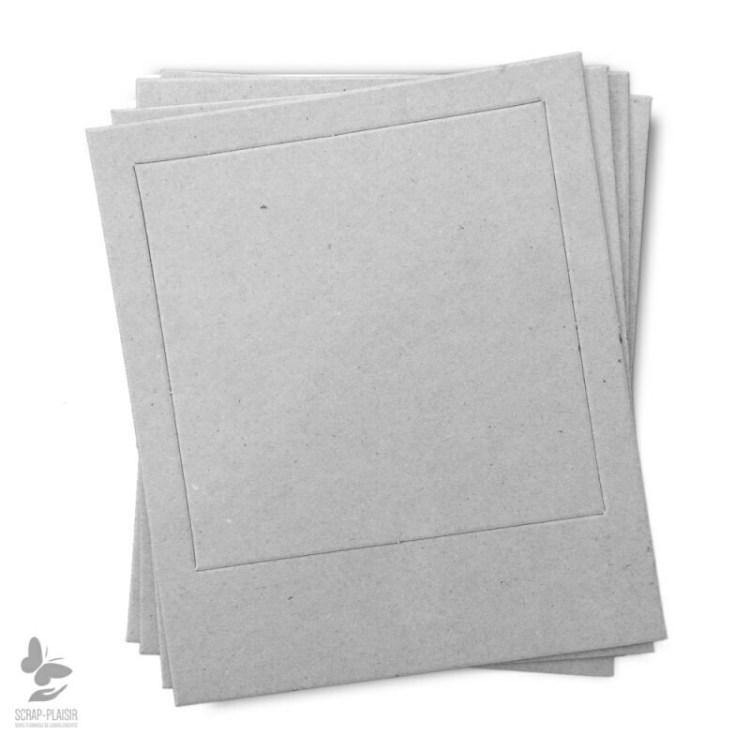 Lot de 8 cadres polarôïde en carton à décorer - 14,5 cm