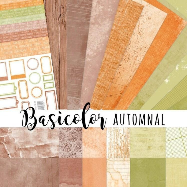Set de 24 papiers Basicolor 30,5x30,5 cm - Automnal