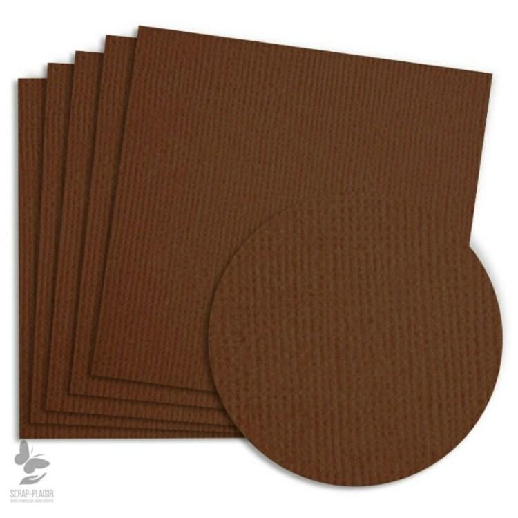 5 feuilles de papier texturé A4 - Chocolat