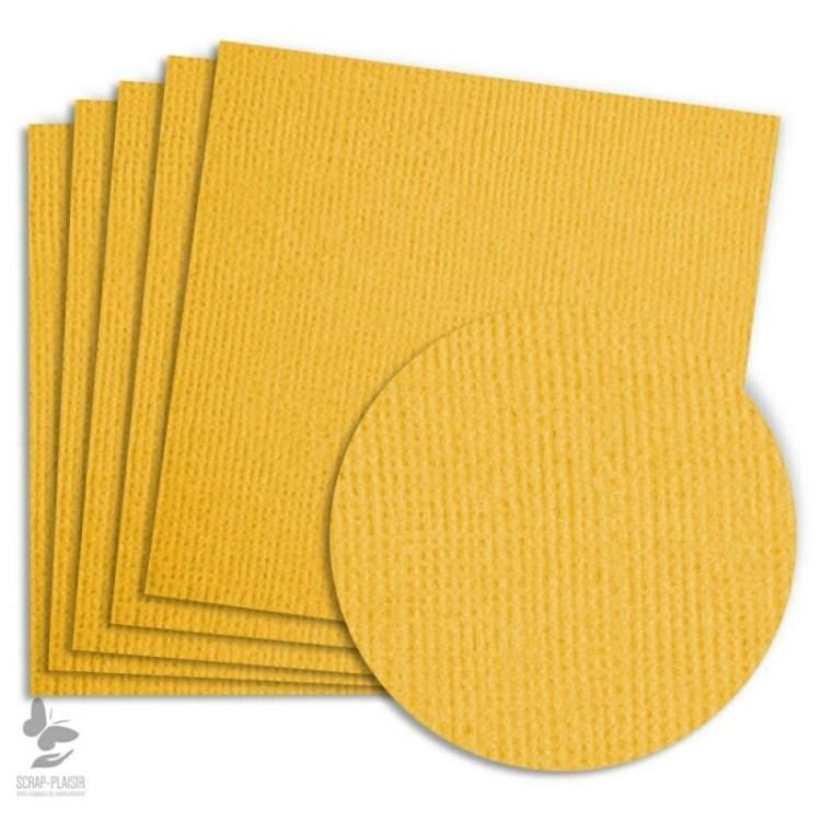 5 feuilles de papier texturé A4 - Jaune