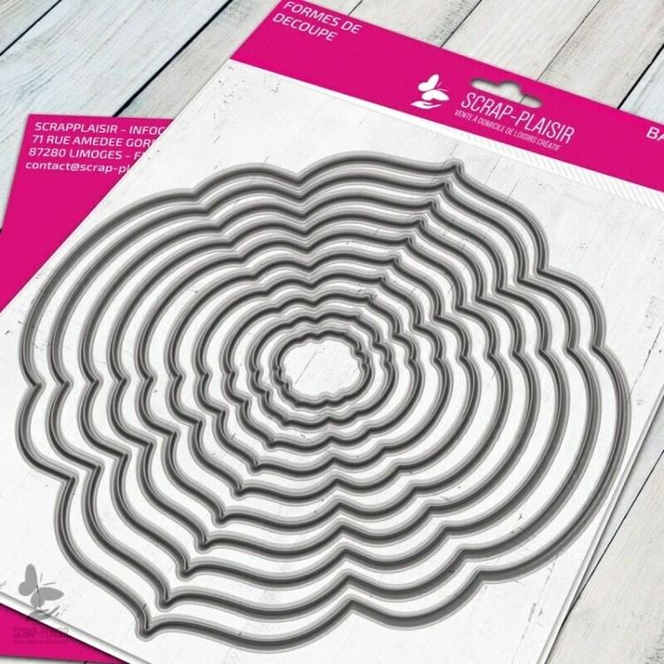 Set de 10 matrices de découpe cadres romantiques 1 - 14,5x14,5cm