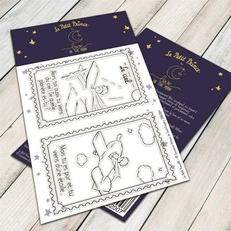 Set de 2 tampons clear le ciel du Petit Prince - 6,5x9,5cm