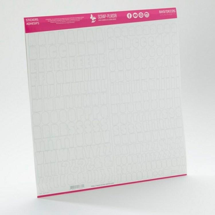 Stickers Basi'Decos Les Alphabets - Blanc