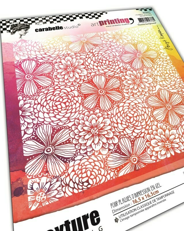 Plaque d'impression en gel artPrinting - Flowery background by birgit Koopsen