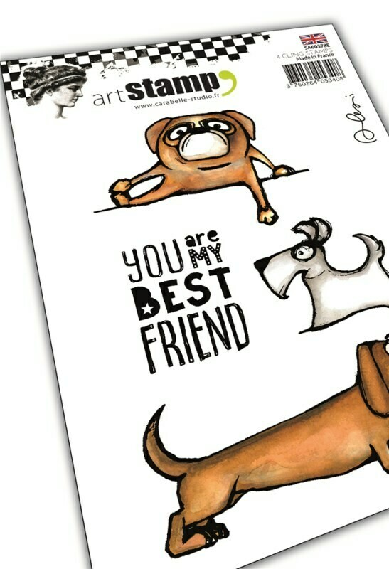 Set de 4 tampons clear A6 - My dog, my best friend by Alexi - 10x15cm