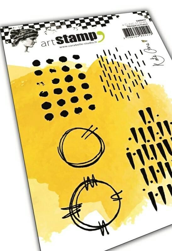 Set de tampons cling A6 - Grungy patterns by Kate Crane - 10x15cm