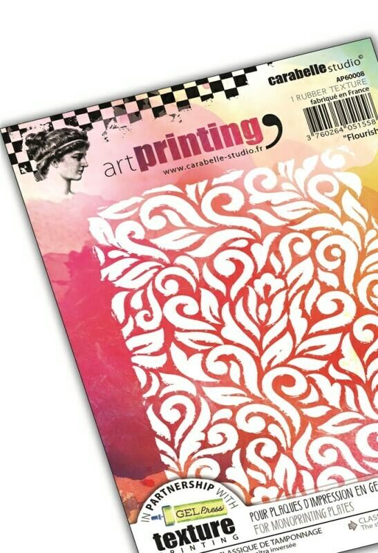 Plaque d'impression en gel artPrinting - Flourish