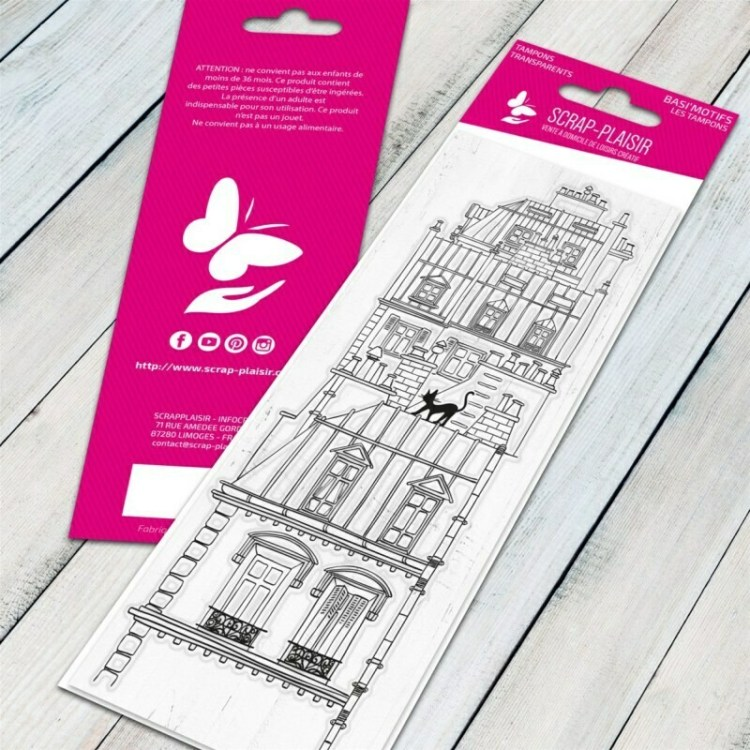 Tampon clear les toits de Paris - 13x5,5cm
