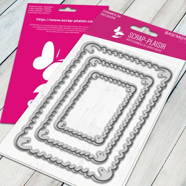 Set de 3 matrices de découpe petit beurre - 12x15cm