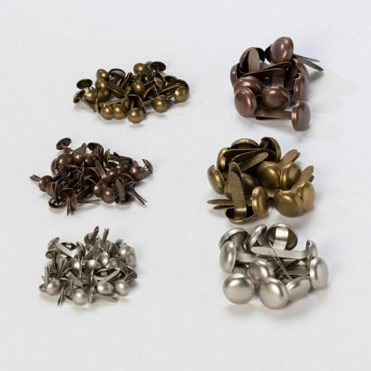 Lot de 138 attaches parisiennes - Argent, Bronze, Or