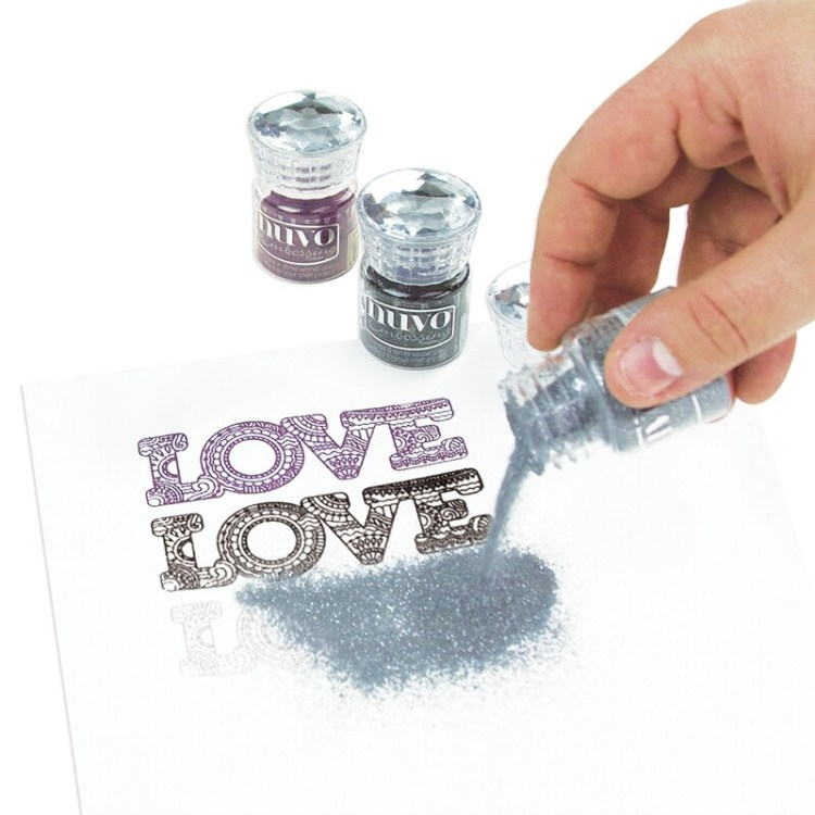Nuvo - Embossing Powder - Classic Silver - 601n