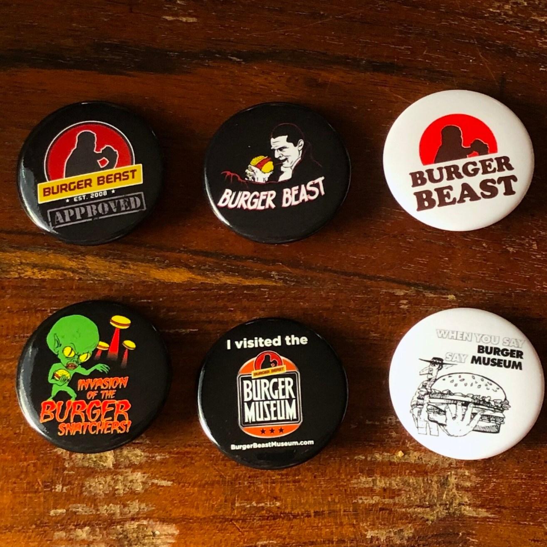 Burger Beast Buttons
