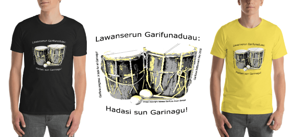 Garifuna Settlement Day 2018 Tshirts (Available in Yellow or Black) 00002