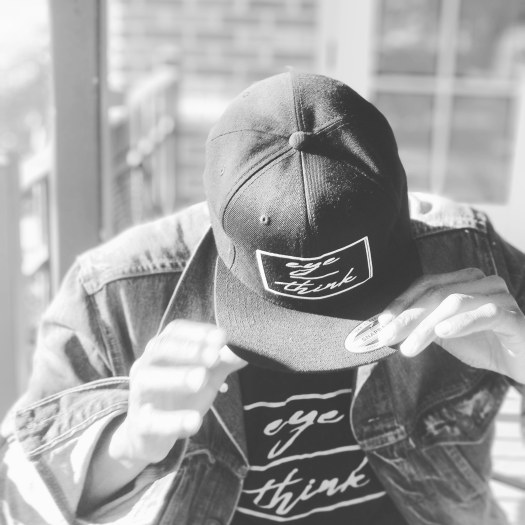 """ Eyeoverthink - Black Hat eye/thinkBlackSnapBack"