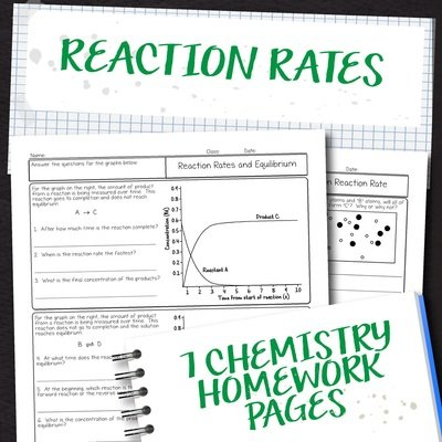 Chemistry Unit 14: Reaction Rates Homework Pages