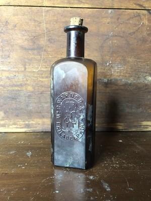Amber Bottle, medicine bottle, vintage bottle