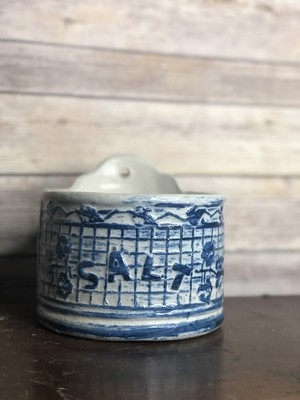Vintage Pottery, stoneware, salt box