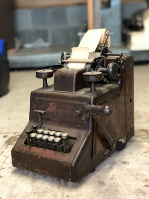 Adding machine c. 1910, Collectible Antique