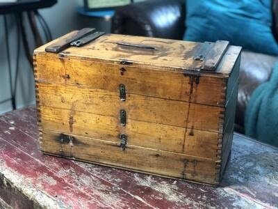 Vintage Storage Box, Antique Egg Box, Dovetailed Box