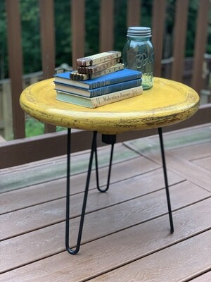 Small End Table, Plant Stand, Repurposed Antique