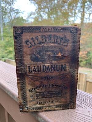 Vintage Storage Box, Vintage Advertising Box, Antique Box