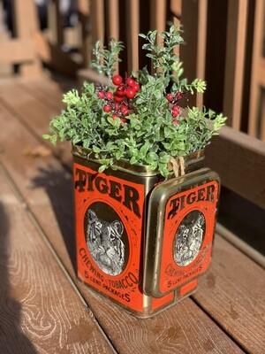 Christmas Planter, Vintage Christmas Decor