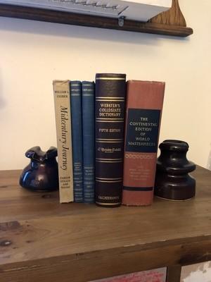 Ceramic Insulators, Pair of Vintage Bookends
