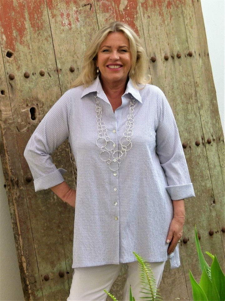 June - Button Down Check Shirt