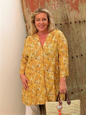 Tippi - Printed 3/4 Sleeved Tunic