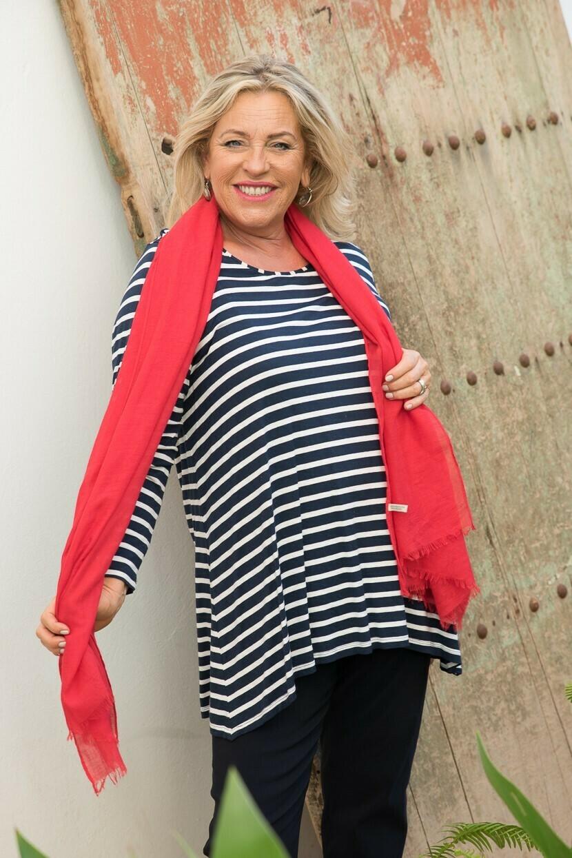 Tina -Breton Stripe Long sleeve Jersey Top