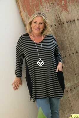 Tanja - Stripe Jersey Tunic
