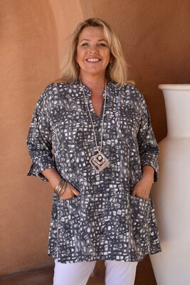 Tadeo - Nehru style tunic top with pockets